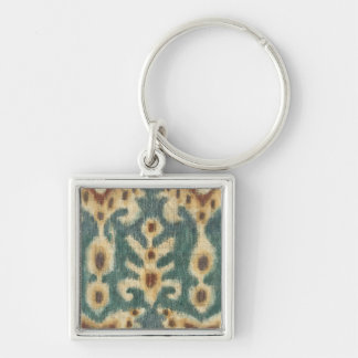 Decorative Ikat Fabric Design by Chariklia Zarris Key Ring