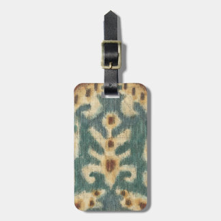 Decorative Ikat Fabric Design by Chariklia Zarris Luggage Tag