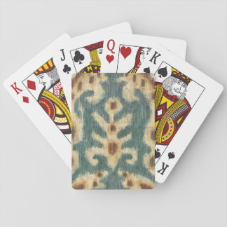 Decorative Ikat Fabric Design by Chariklia Zarris Playing Cards