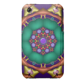 Decorative iPhone 3 case with cute hearts