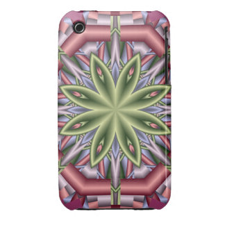 Decorative iPhone 3 case with fantasy flower