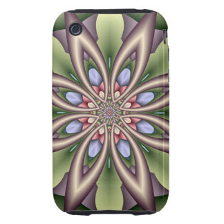 Decorative iPhone case with Fractal Fantasy Flower iPhone 3 Tough Cases
