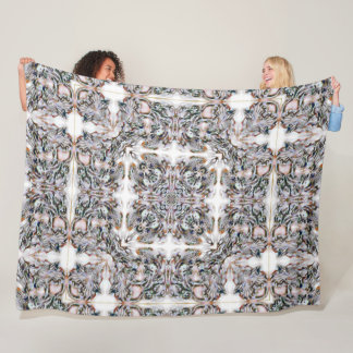 Decorative Ivory High Guardian Angel Mandala Quilt Fleece Blanket