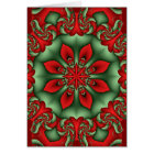 Decorative kaleidoscope Christmas card with Text