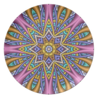 Decorative kaleidoscope dinner or party plate