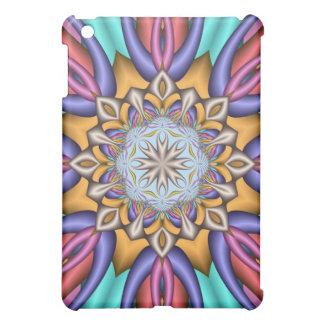 Decorative kaleidoscope fantasy flower case for the iPad mini