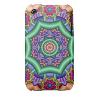 Decorative kaleidoscope Fantasy Flowers iPhone 3 Covers