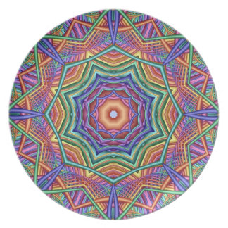 Decorative Kaleidoscope Party Plate