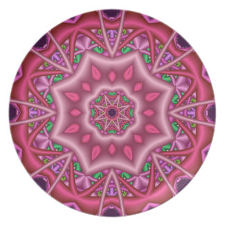 "Decorative kaleidoscope plate ""Pinks"""