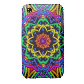Decorative Kaleidoscope star design iPhone 3 Case-Mate Case