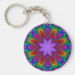 Decorative keychain in rainbow colors