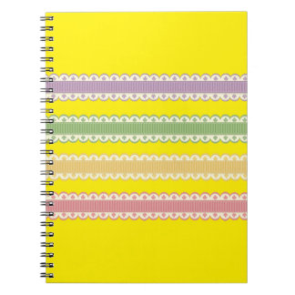 Decorative Laces Spiral Notebooks