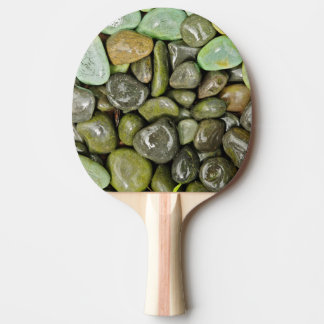 Decorative landscaping rocks ping pong paddle