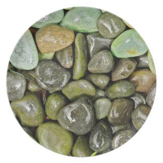 Decorative landscaping rocks plate