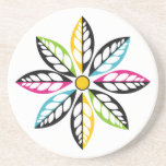 Decorative Leaves-Flower modern, abstract Beverage Coasters