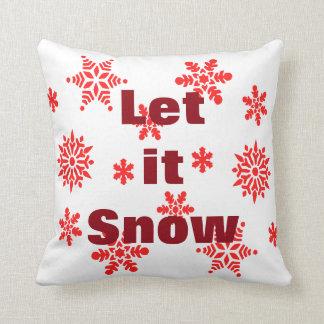 Decorative Let it Snow Crystal Snowflake Christmas Cushion
