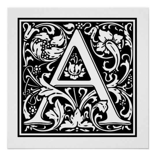 Decorative Letter A.Decorative Letter A Poster