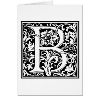 "Decorative Letter Initial ""B"" Card"