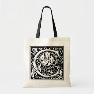 "DecorativeLetter Initial ""C"" Budget Tote Bag"