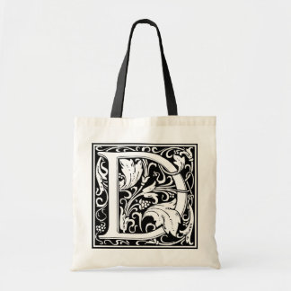 "Decorative Letter Initial ""D"" Tote Bag"