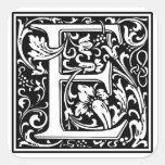 """DecorativeLetter Initial """"E"""" Stickers"""
