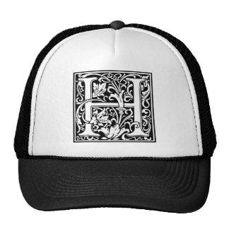 "DecorativeLetter Initial ""H"" Mesh Hat"