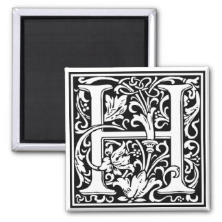 "Decorative Letter Initial ""H"" Magnet"