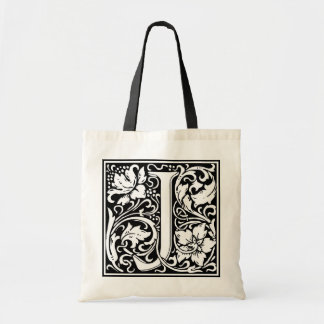 "Decorative Letter Initial ""J"" Tote Bag"