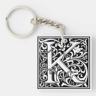 "DecorativeLetter Initial ""K"" Key Ring"