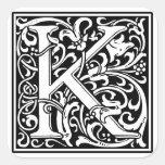"DecorativeLetter Initial ""K"" Sticker"