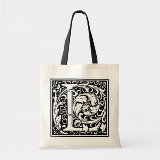 "Decorative Letter Initial ""L"" Tote Bag"