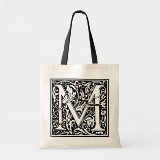 "Decorative Letter Initial ""M"" Tote Bag"
