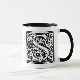 "Decorative Letter Initial ""S"" Mug"