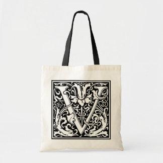 "DecorativeLetter Initial ""V"" Tote Bag"