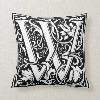 "Decorative Letter Initial ""W"" Cushion"