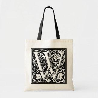 "DecorativeLetter Initial ""W"" Tote Bag"