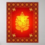 Decorative Lord Ganesha Poster