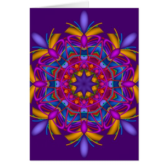 Decorative mandala birthday card
