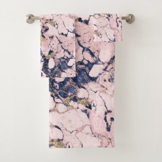 Decorative marble on bath towel set, shop with prints on demands,mugs,t shirt,pillows