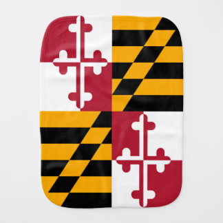 Decorative Maryland State Flag Burp Cloths