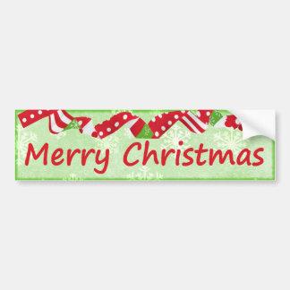 Decorative Merry Christmas Festive Holiday Car Bumper Sticker