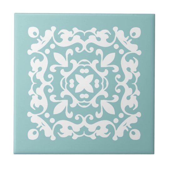 Decorative Mint Green and White Choose Your Colour