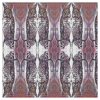 Decorative Mirrored Owl Pattern Fabric