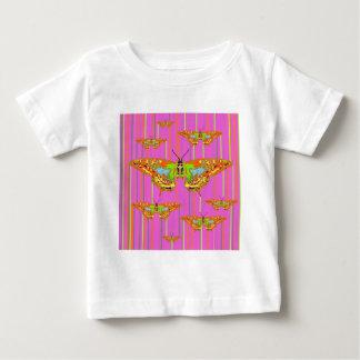 Decorative Modern Butterfly Pink Art Design T-shirts