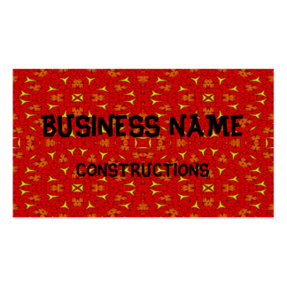 Decorative modern red yellow pattern pack of standard business cards
