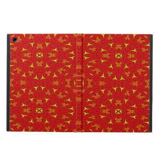 Decorative modern red yellow pattern case for iPad air