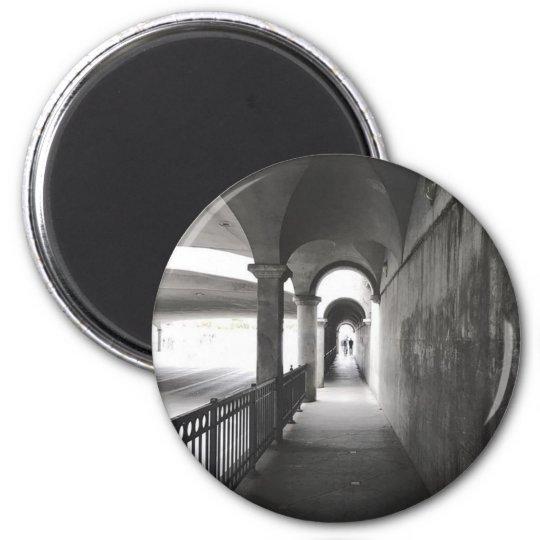 Decorative Monochrome Photography Magnet