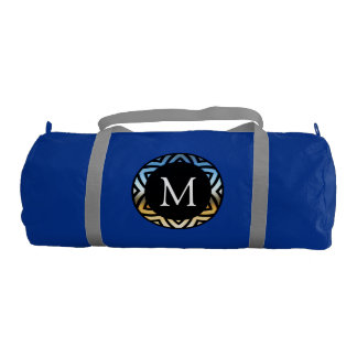 Decorative Monogram Gym Duffel Bag