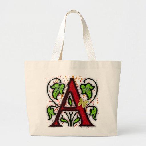 Decorative Monogram Letter A Bags
