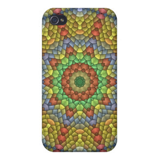 Decorative Mosaic pern Cover For iPhone 4